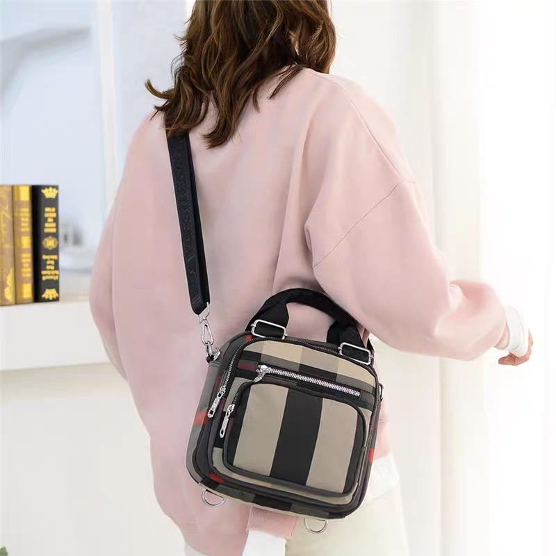 Túi đeo chéo balo đa năng vải phối màu thời trang dạo phố HN7 (túi đeo chéo đa năng nguồn giá sỉ)