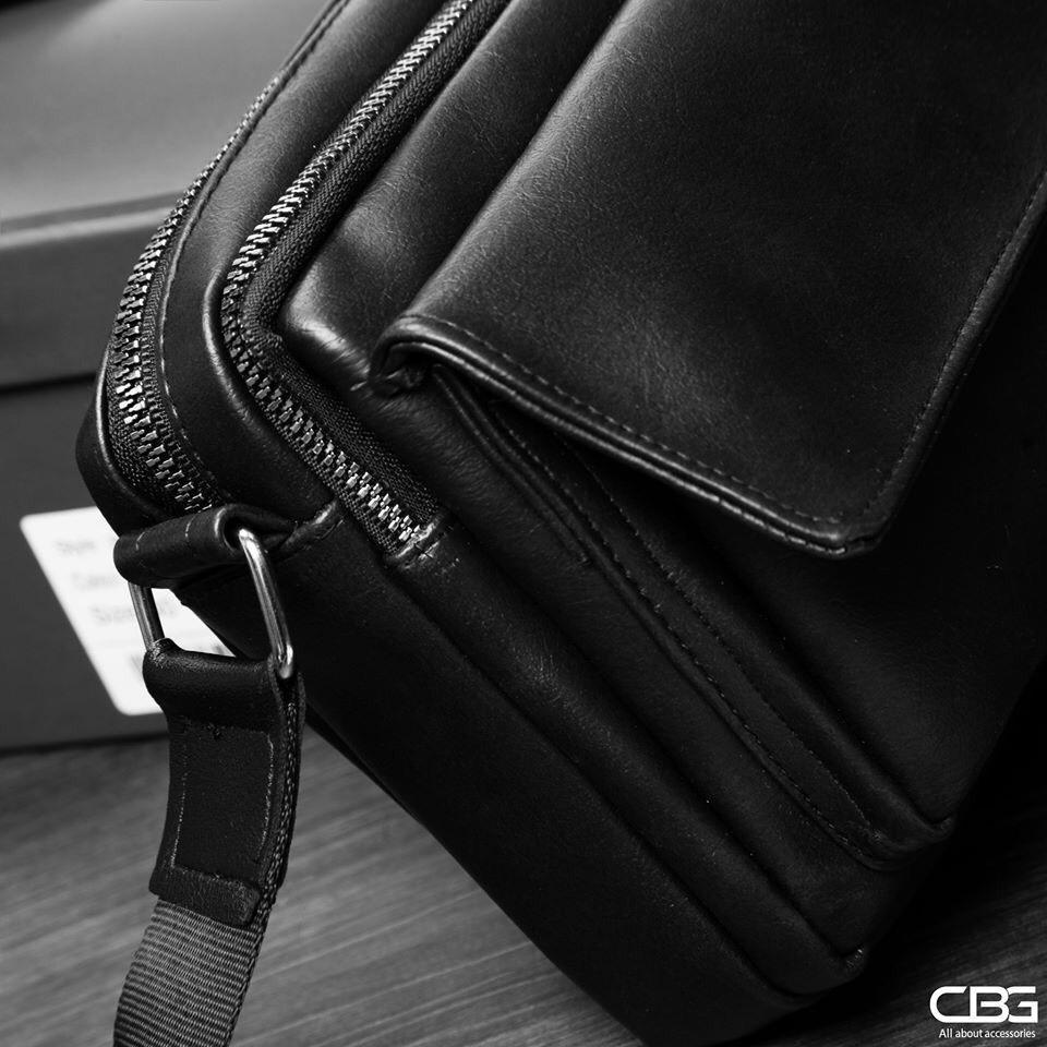 Túi đeo chéo nam nữ da nắp kéo đôi tiện ích du lịch Shalla KM33 (túi đeo chéo nam nữ giá sỉ)