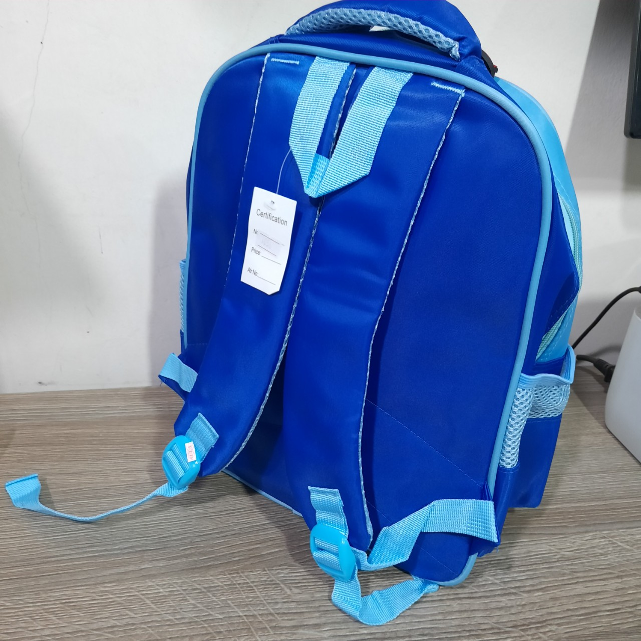 Balo cho bé trai 3D Hình siêu nhân avent xanh- batman 1056 HS3 Shalla (balo cho bé trai chuyên sỉ)