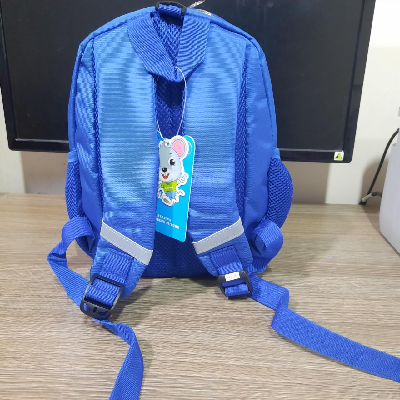 Balo 3D Hình Voi viền đỏ- xanh  cho trẻ mùa hè đi học 0007 Shalla (balo 3D hình voi chuyên sỉ)