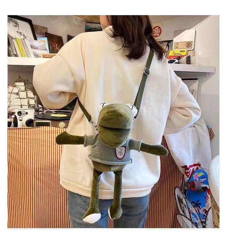 Túi đeo chéo thời trang ếch xanh siêu bền cao cấp K04 Shalla (túi đeo chéo thời trang chuyên sỉ)