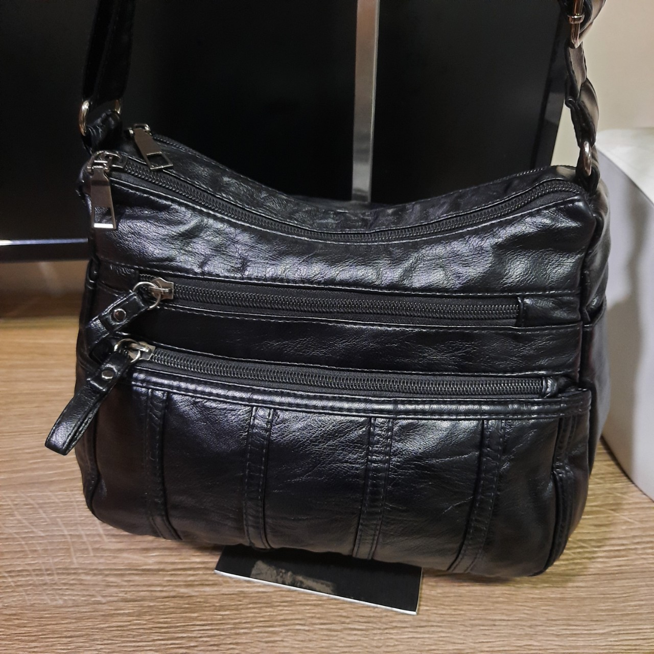 Túi đeo chéo đeo vai thời trang cổ điển kiểu 4 bính dọc siêu đẹp Shalla (túi đeo chéo đeo vai da cổ điển nguồn sỉ)