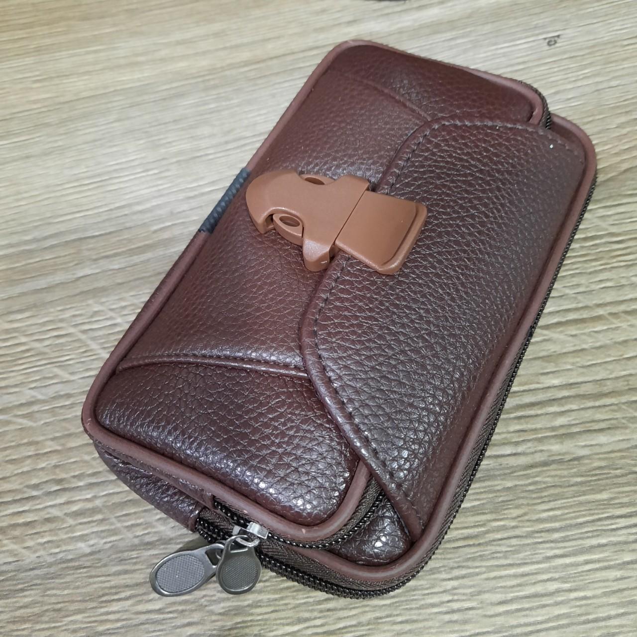 Túi đeo ngang hông da đựng điện thoại Zipper thời trang cao cấp KMD3 Shalla (túi đeo ngang hông da đựng điện thoại giá sỉ)