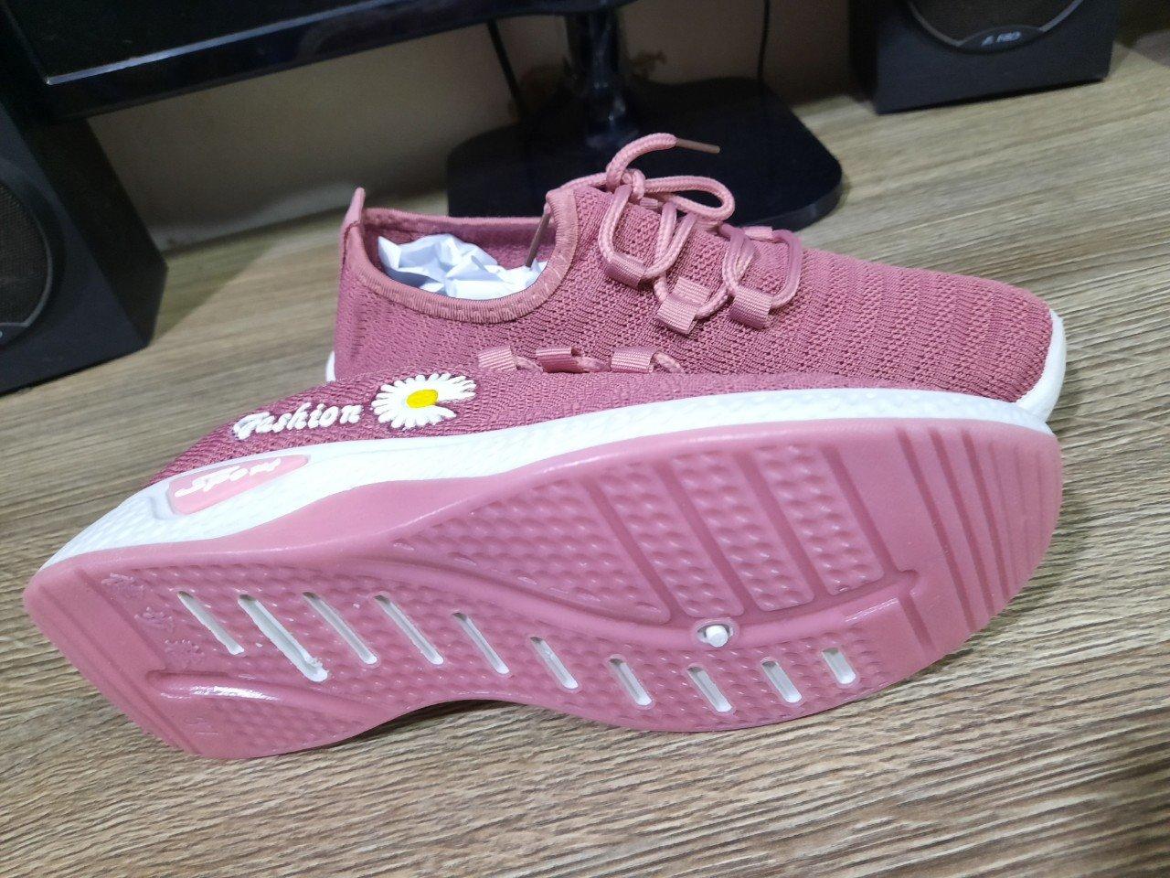Giày thể thao Sneakers nữ cổ thấp hoa cúc thời trang cao cấp HC 01 Shalla ( GIÀY NAM NỮ GIÁ RẺ )