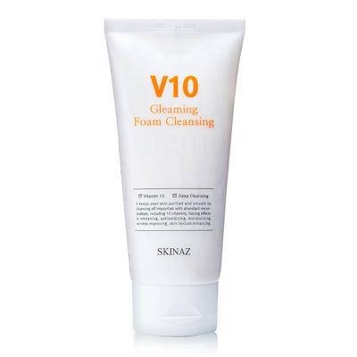 Skinaz V10 Gleaming Foam Cleansing - Sữa rửa mặt dạng bọt kem