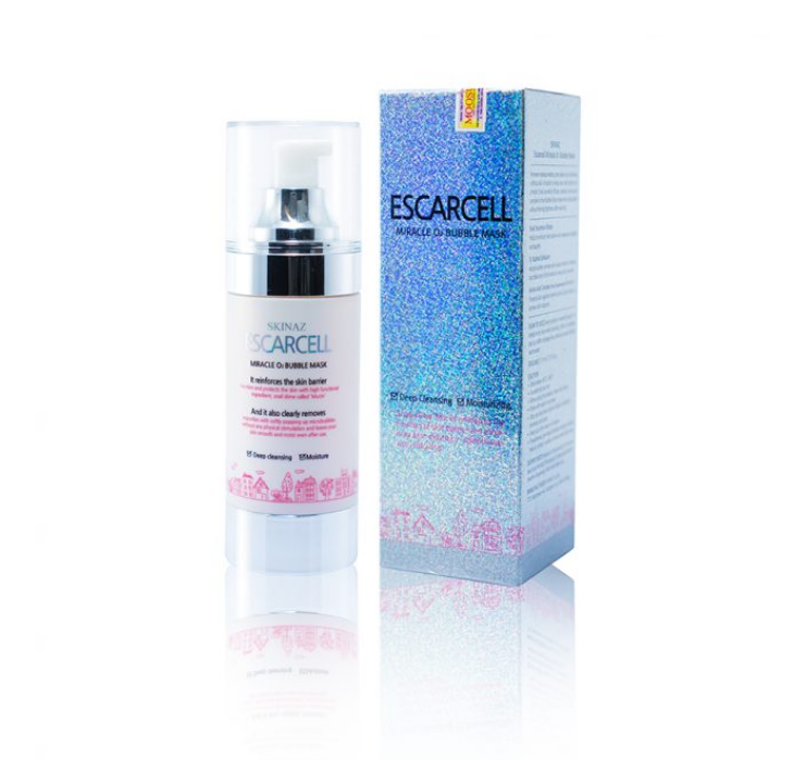 Mặt nạ bong bóng Escarcell Miracle Bubble O2 Skinaz 8 in 1