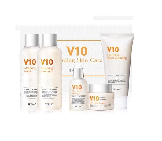 Combo V10  Skinaz Gleaming Cream dùng cho tất cả các loại da