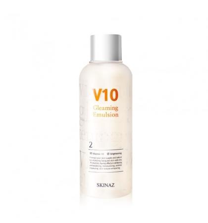 Skinaz V10 Gleaming Emulsion - Sữa dưỡng trắng da