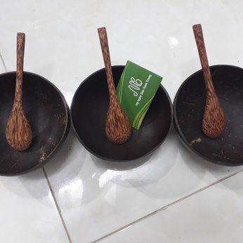 Bát gáo dừa bộ 5 bát 5 muỗng giá tốt