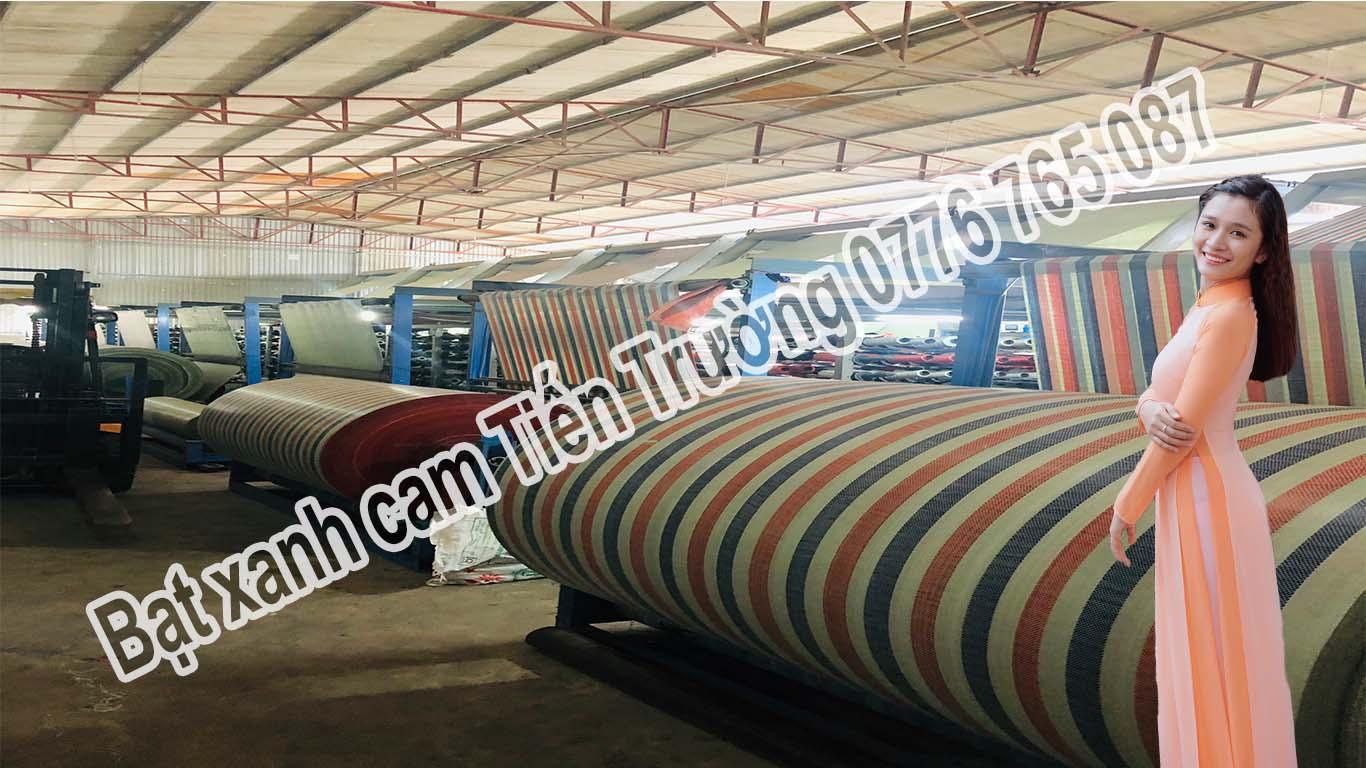 Bạt sọc kẻ 3 màu khổ 6m dài 50m nặng 19.5kg