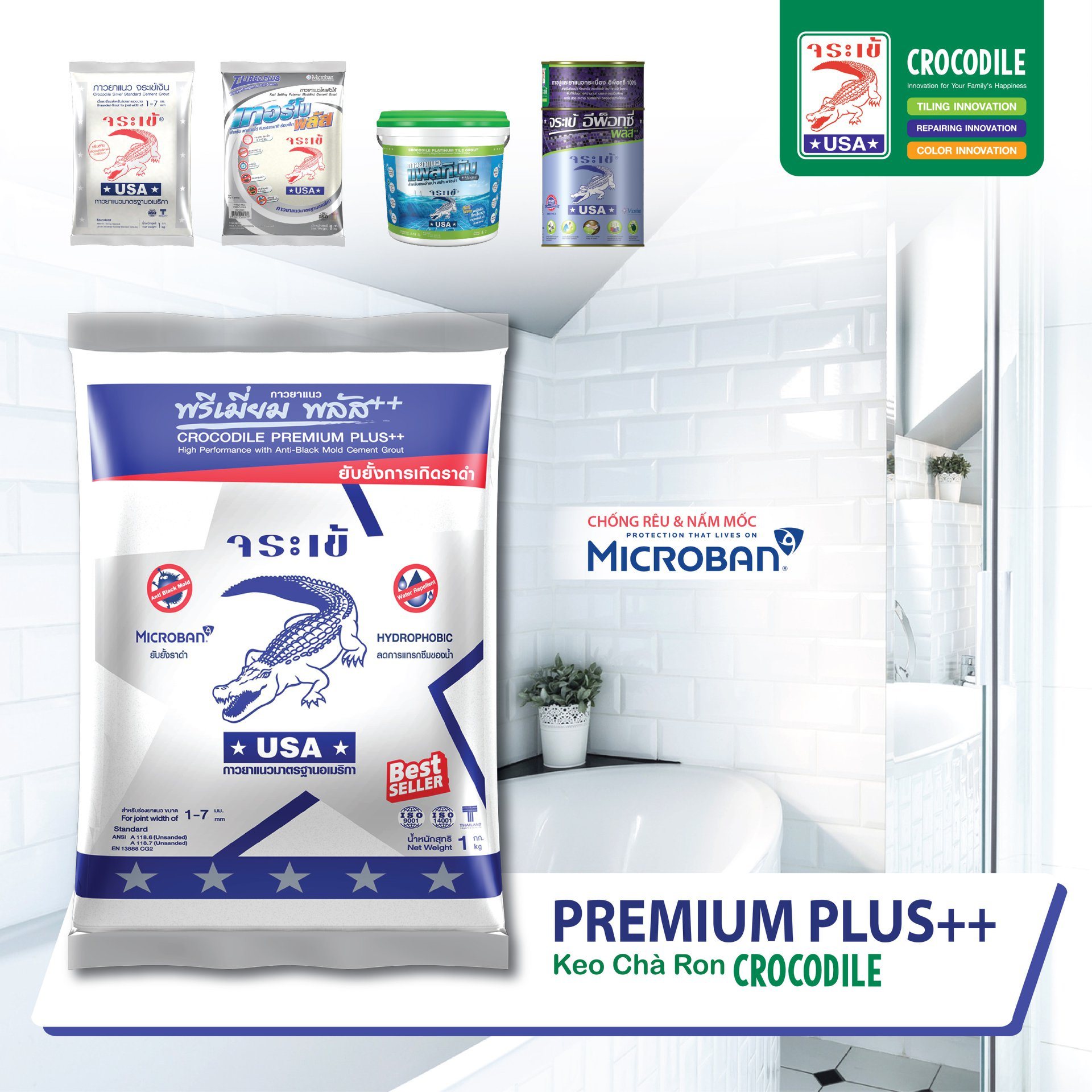 Keo chà ron – Crocodiles Silver Premium Plus Mã 0710