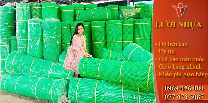 Lưới Nhựa PE Xanh Rẻ 2M/2P ( 55 - 60 Kg)