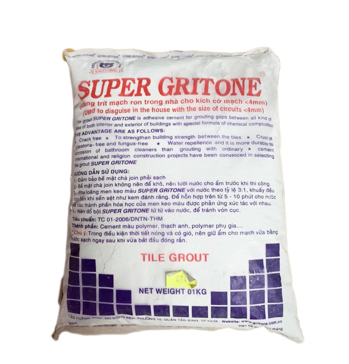 Keo chà ron Super Gritone màu khói lợt SP-17 ( Gói / Kg)
