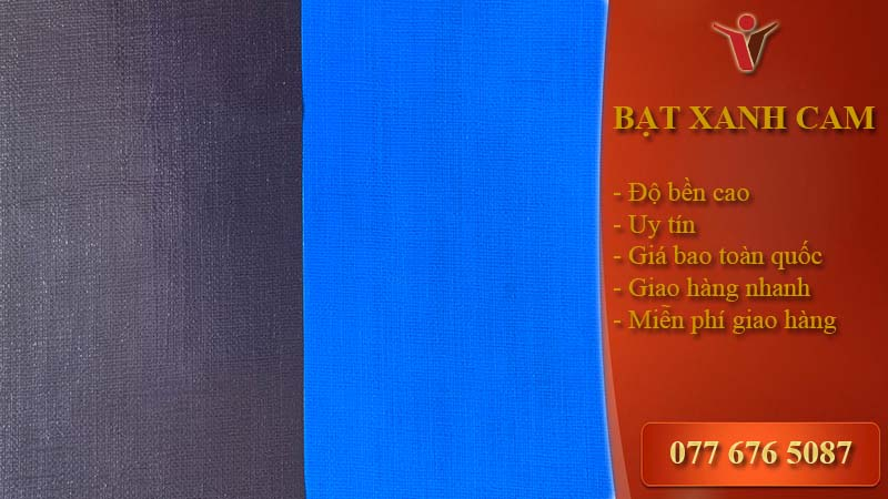 HQ Bạt xanh dương xanh tím 2m*100m ( kg)