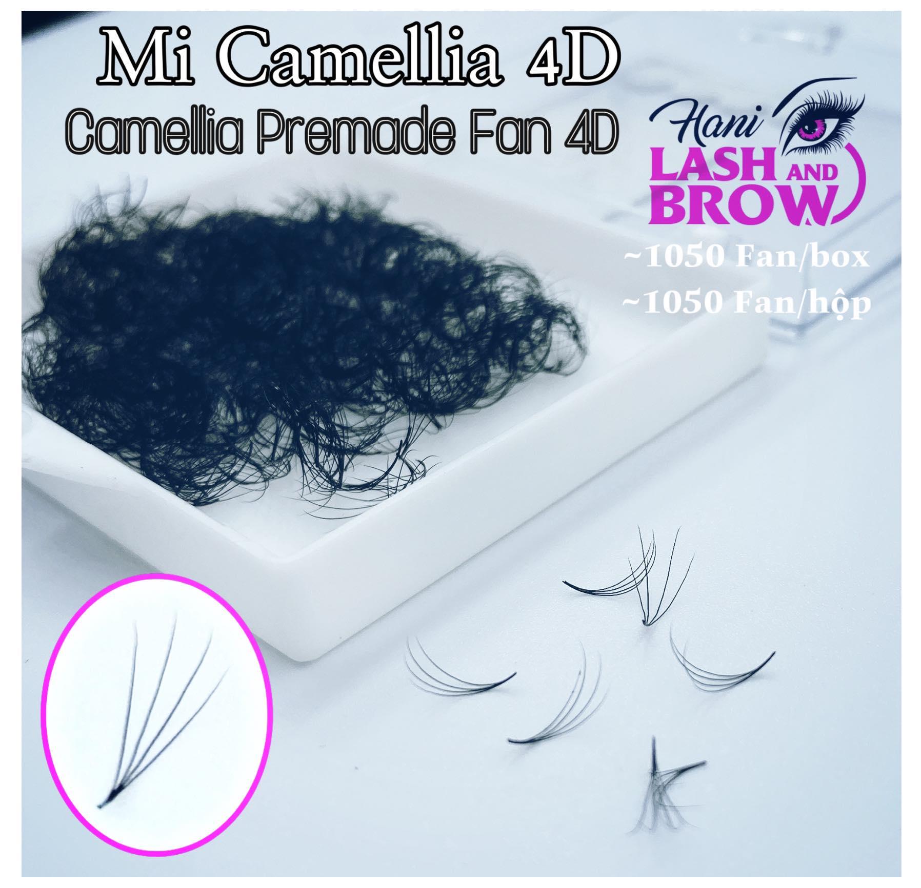 Mi Fan Sole Camellia 4D Nhiều Độ Dày Và Độ Cong | Hani Beauty
