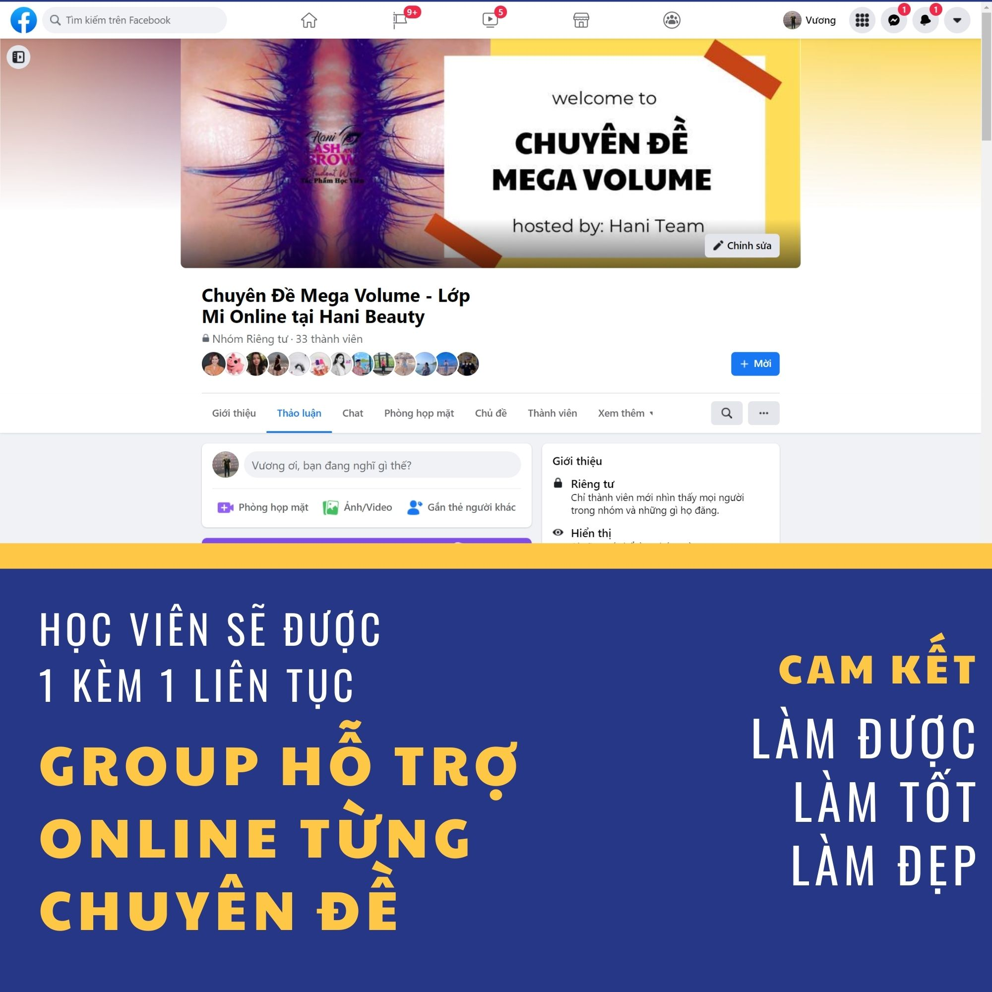 Khoá Học Nối Mi Mega Volume Online + Bộ Dụng Cụ Nối Mi Mega