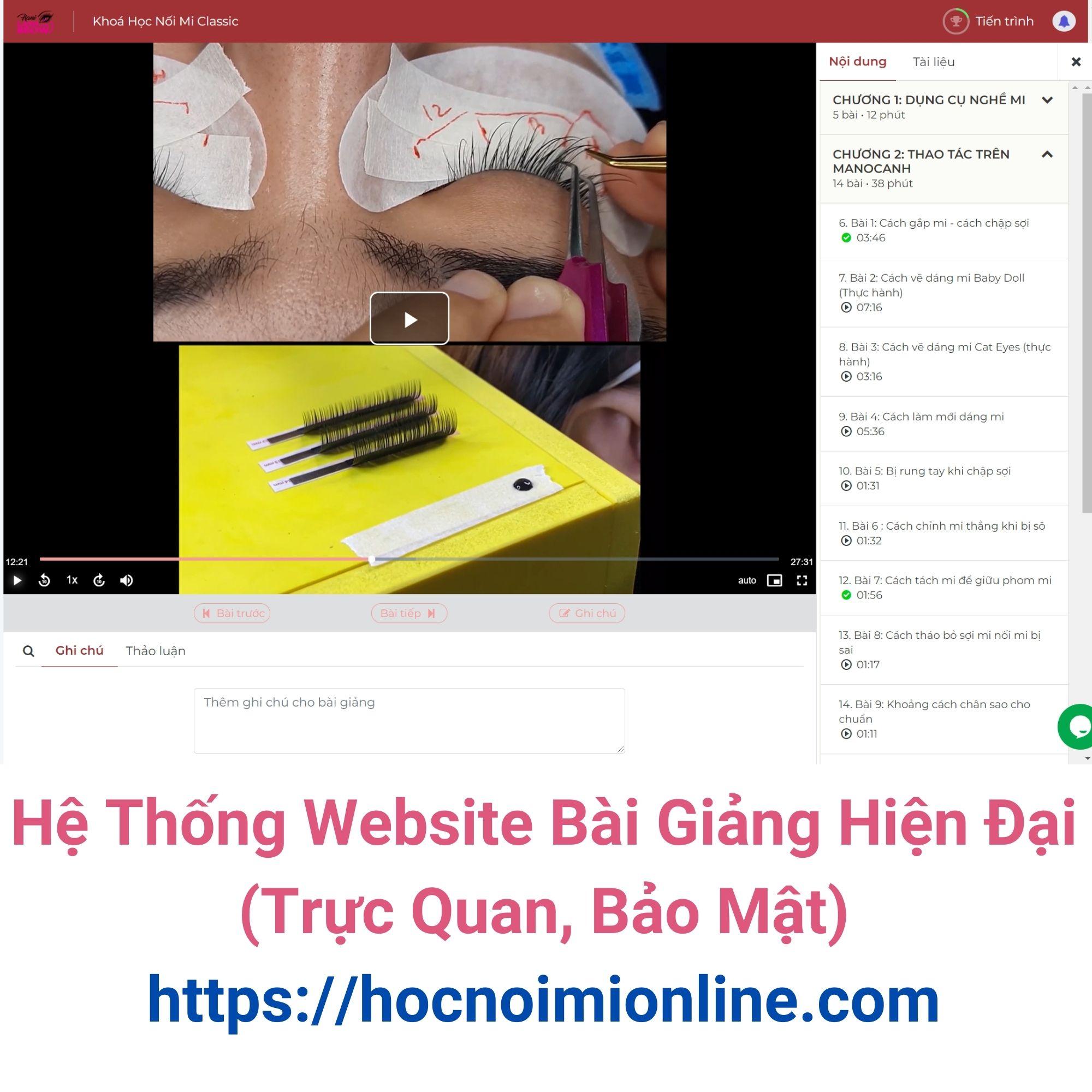 Bộ Dụng Cụ Nối Mi Classic + Khoá Học Nối Mi Classic Online (Ms. Hani Trực Tiếp Dạy)