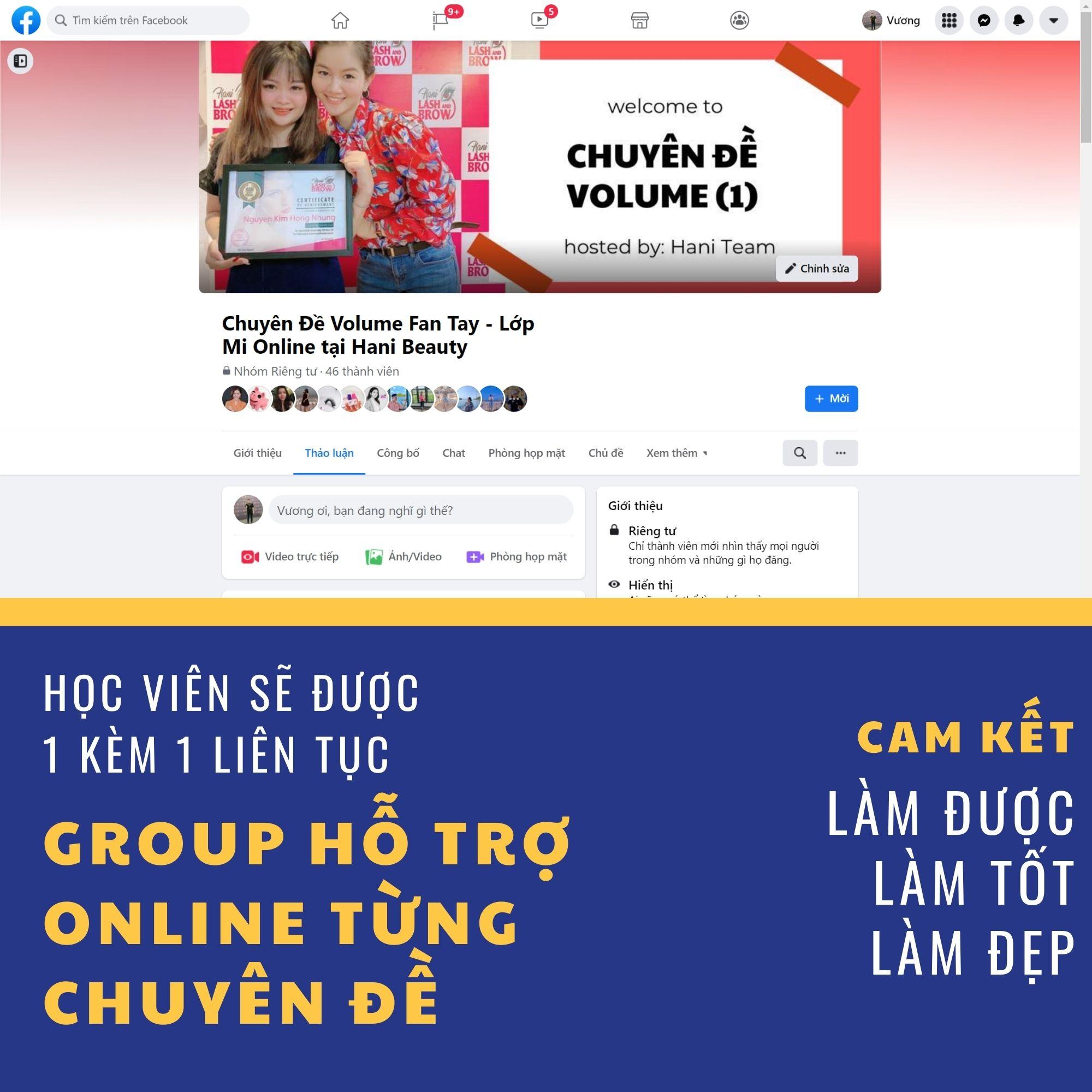 Khoá Học Nối Mi Volume (Fan Tay) Online + Bộ Dụng Cụ Nối Mi Volume (Fan Tay)