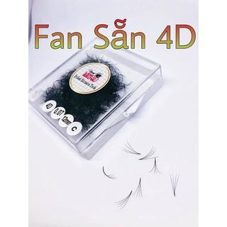 Mi Fan Sẵn 4D gồm 4 sợi mi trên fan - Dễ Bắt Keo - Nhập Khẩu 100%