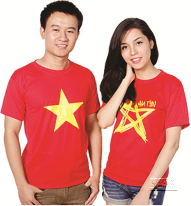 mẫu áo cờ đỏ sao vàng
