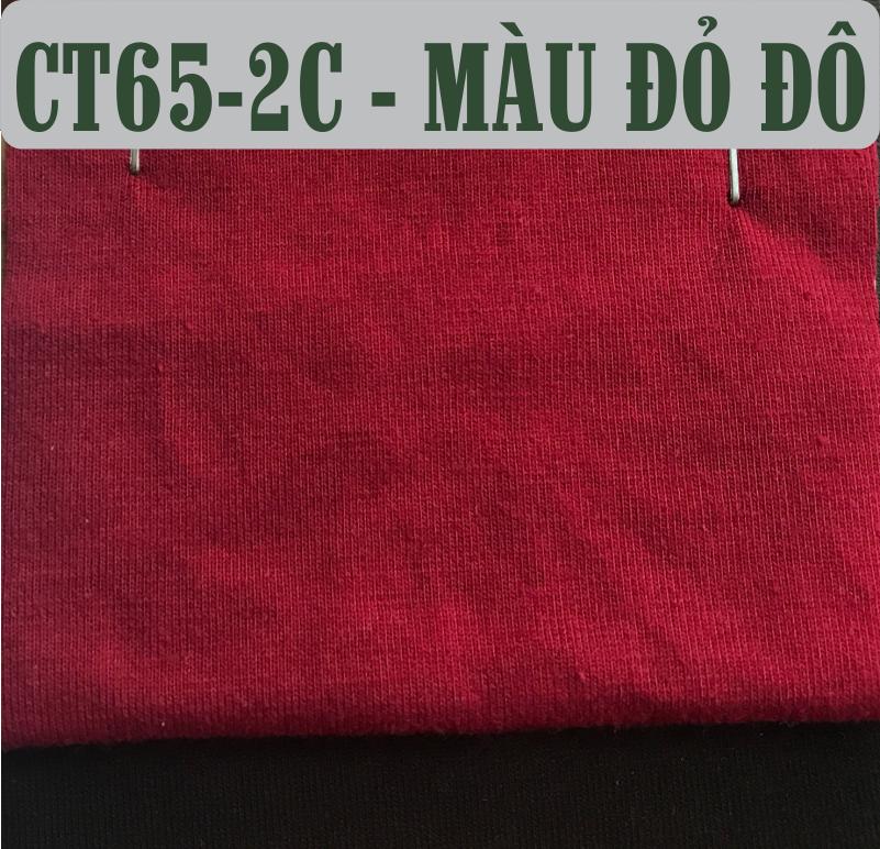 Vải cotton 65/35 co giãn 4 chiều màu đỏ đô