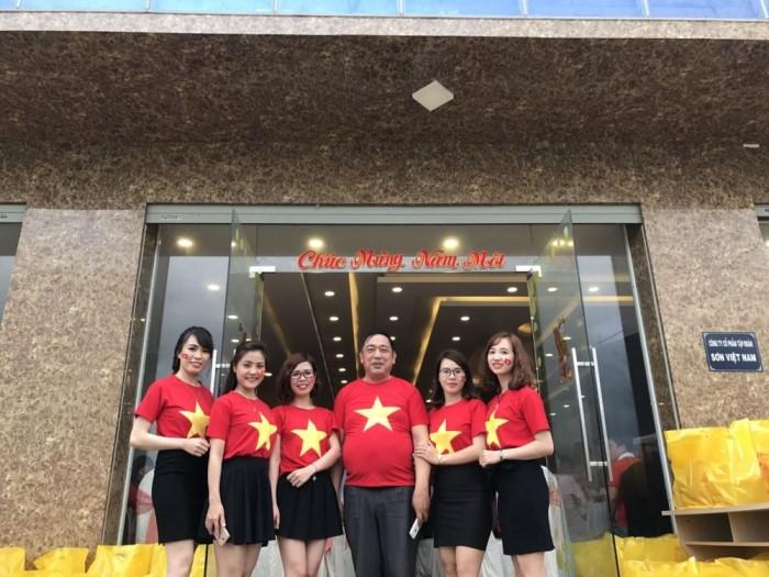 Áo cờ việt nam - áo cờ đỏ sao vàng