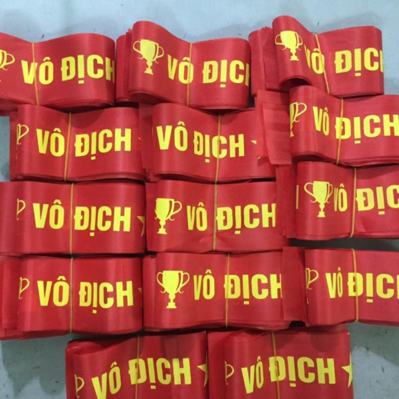 Băng rôn cỗ vũ - băng rôn đeo đầu cổ động bóng đá Việt Nam