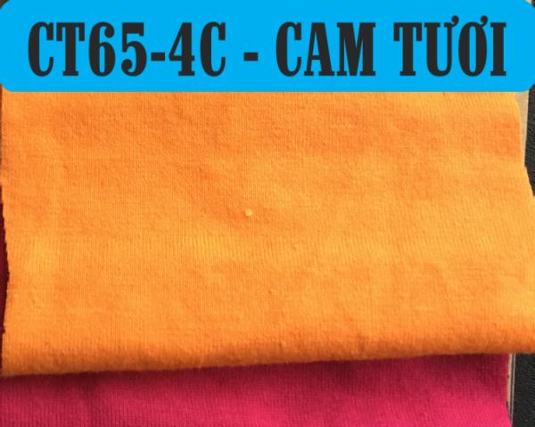 vải thun cotton co giãn 4 chiều màu cam tươi