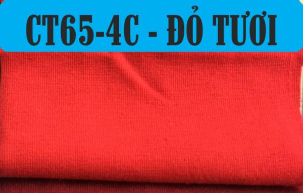 Vải cotton 65/35 co giãn 4 chiều để làm áo cờ đỏ sao vàng
