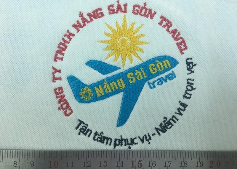 Mẫu thêu áo phông du lịch Nắng Sài Gòn