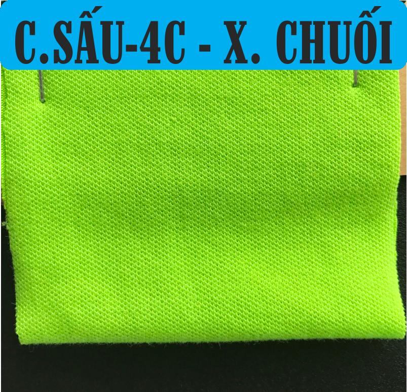 Vải cá sấu 65/35 co giãn 4 chiều màu xanh chuối