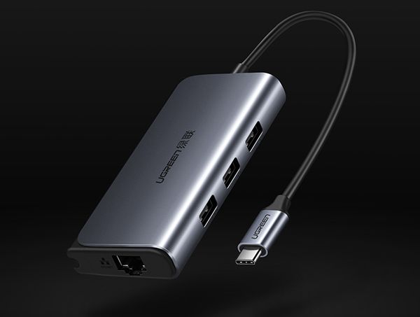 Bộ chia USB Type C 4 cổng USB 3.0 + Lan RJ45 Ugreen 50252