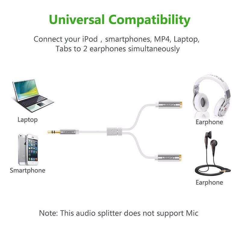 Cáp chia âm thanh 3.5mm 1 ra 2 Ugreen 10780