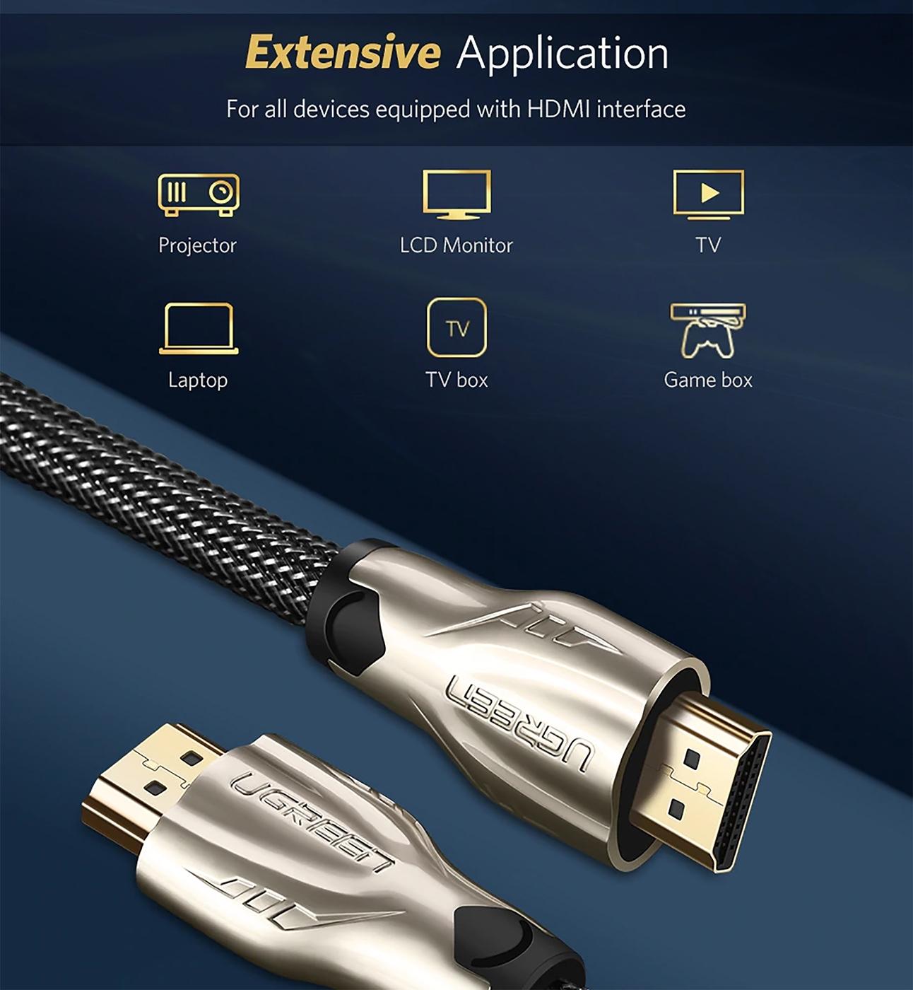 Cáp HDMI dài 10M hỗ trợ 3D 4K Ugreen 11195