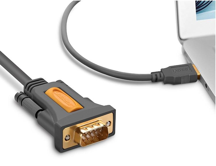 Cáp chuyển USB to RS232 (DB9) dài 2m Ugreen 20222
