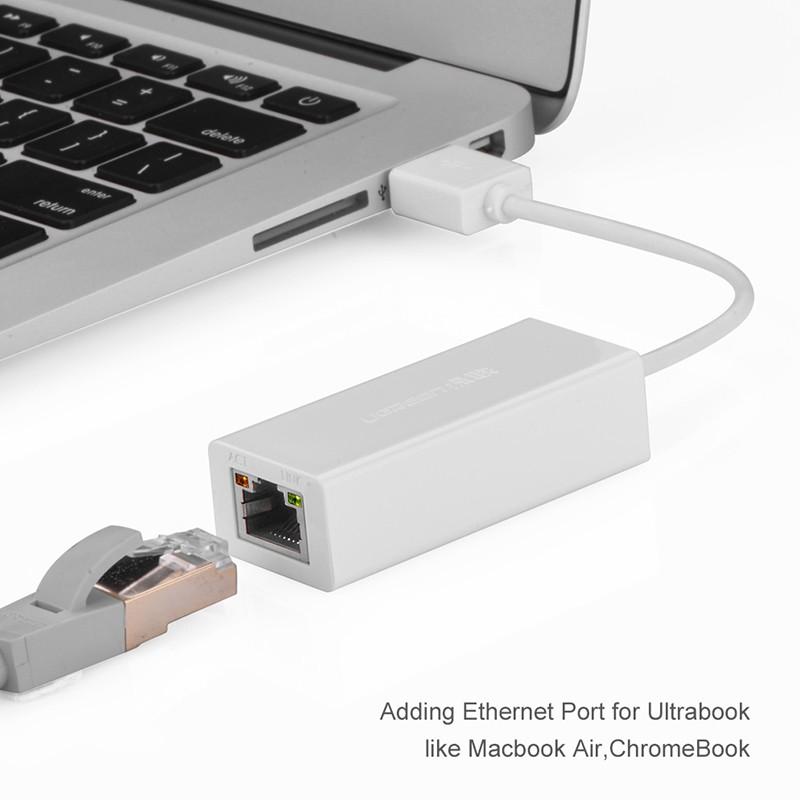 Cáp chuyển USB 2.0 to LAN 10/100Mbps Ugreen 20253