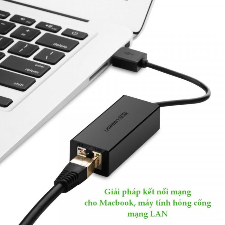 Cáp chuyển USB 2.0 to LAN 10/100Mbps Ugreen 20254