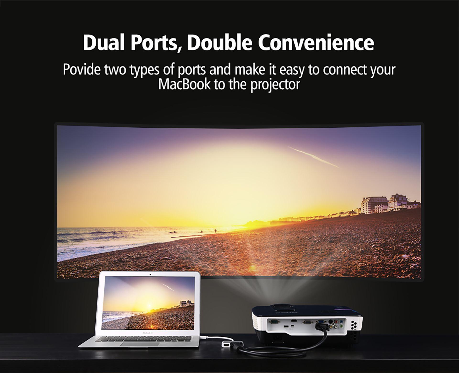 Cáp chuyển Mini Displayport to VGA + HDMI Ugreen 20421