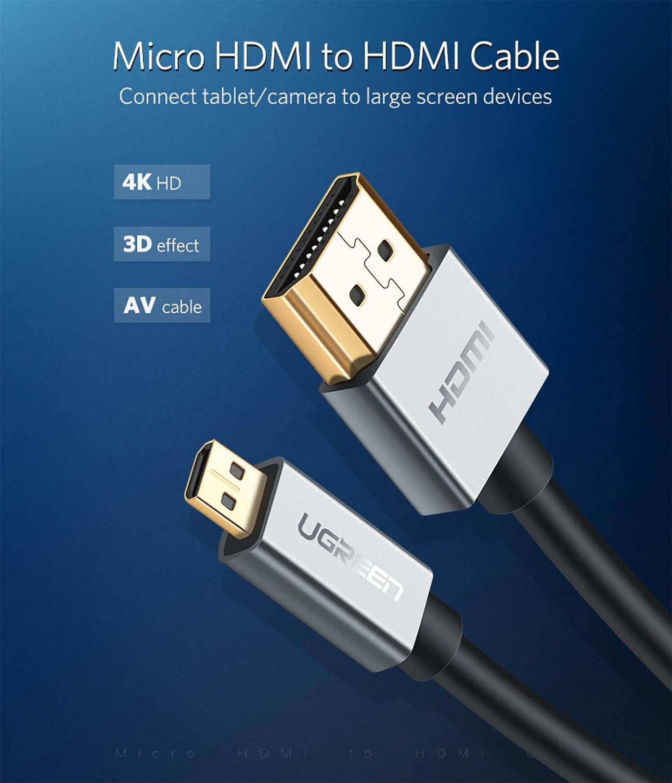 Cáp Micro HDMI dài 1.5M Ugreen 30145