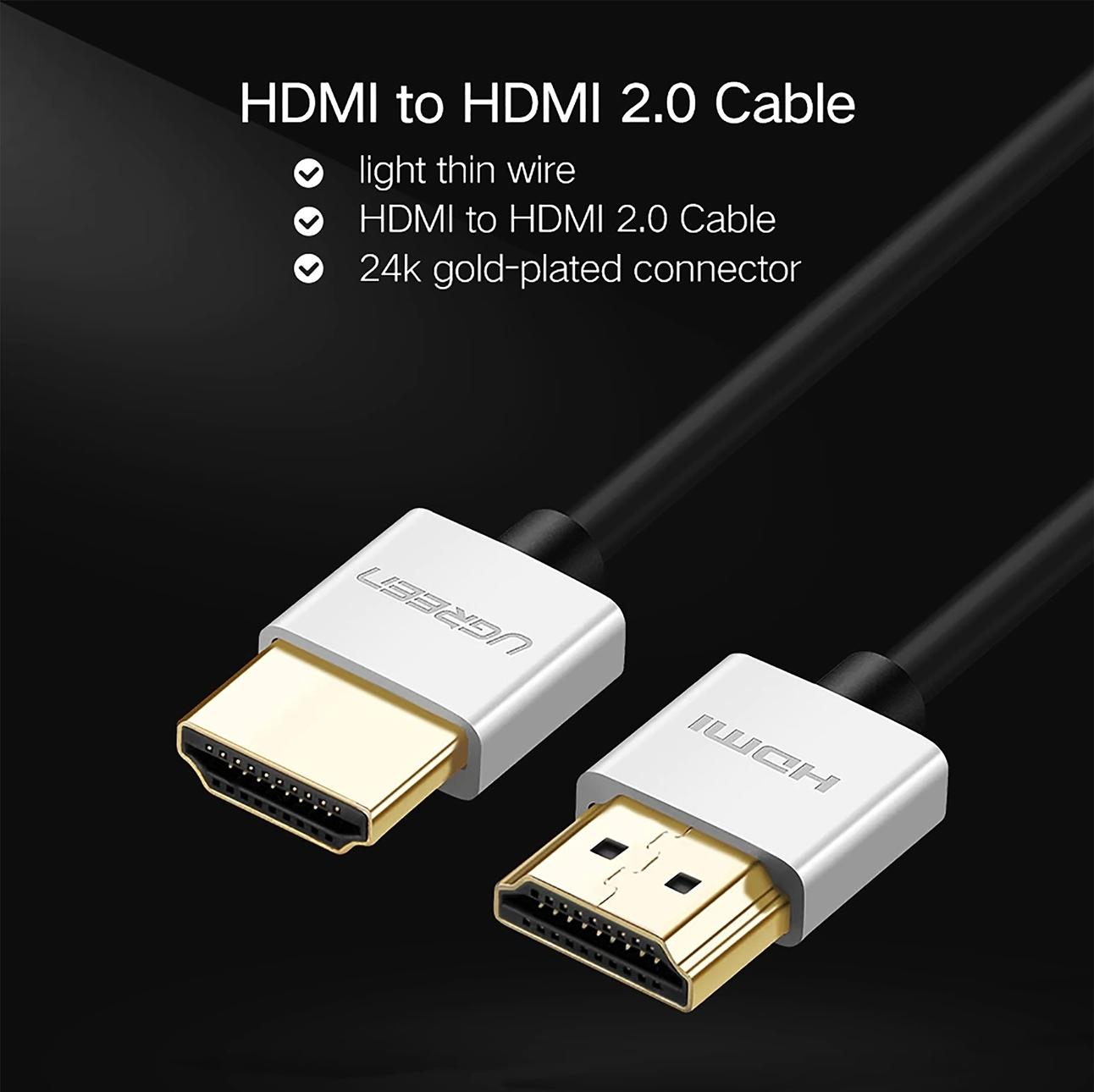 Cáp HDMI dài 10M siêu mỏng hỗ trợ 4K Ugreen 50306