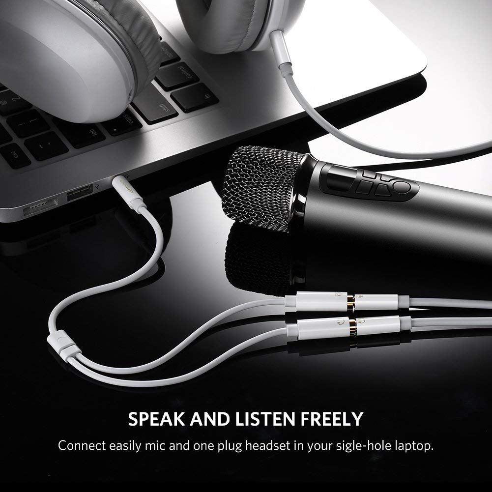 Cáp chia âm thanh 1 ra 2mic và audio Ugreen 30618