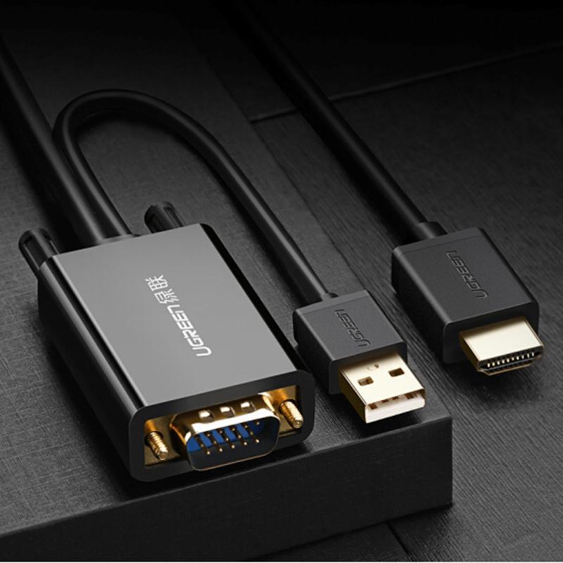 Cáp chuyển VGA to HDMI dài 2m Ugreen 30840