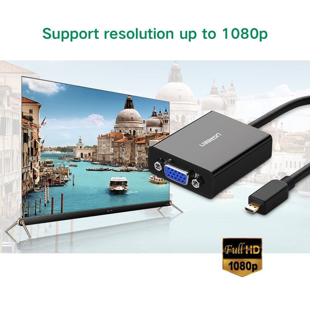 Cáp chuyển Micro HDMI to VGA Ugreen 40268