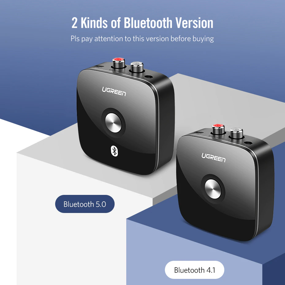 Bộ thu Bluetooth 5.0 cho loa + amly hỗ trợ cổng 3.5mm + RCA Ugreen 40759