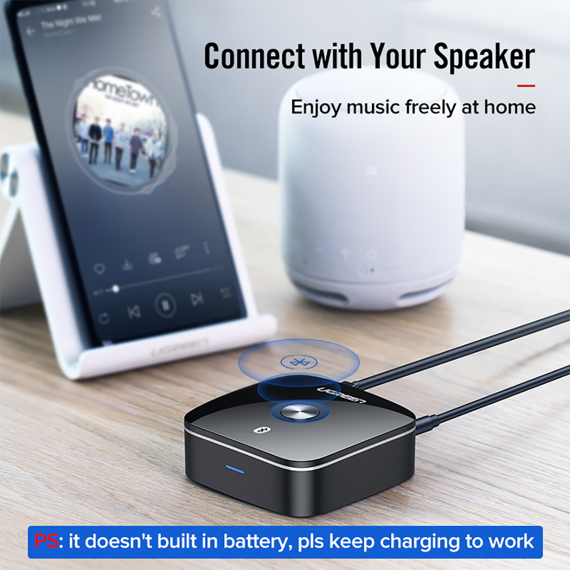 Thiết bị nhận Bluetooth Music Receiver 5.0 Ugreen 40759