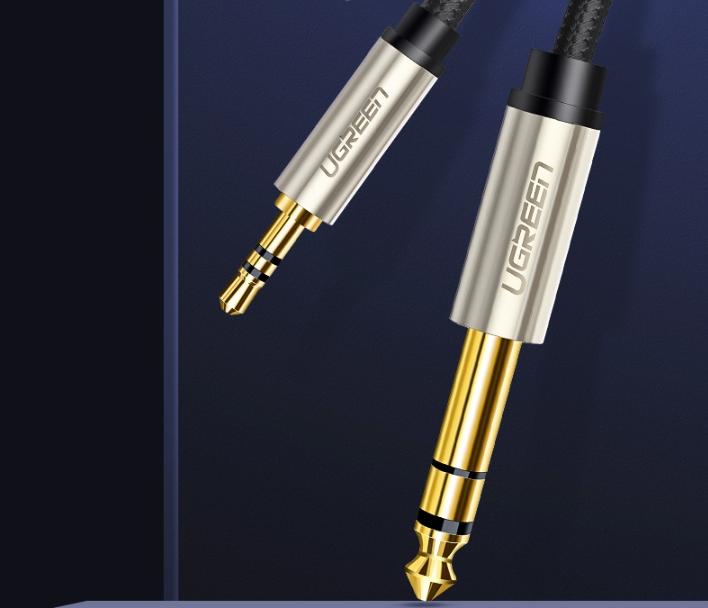 Cáp âm thanh 3.5mm to 6.5mm dài 10m Ugreen 40808