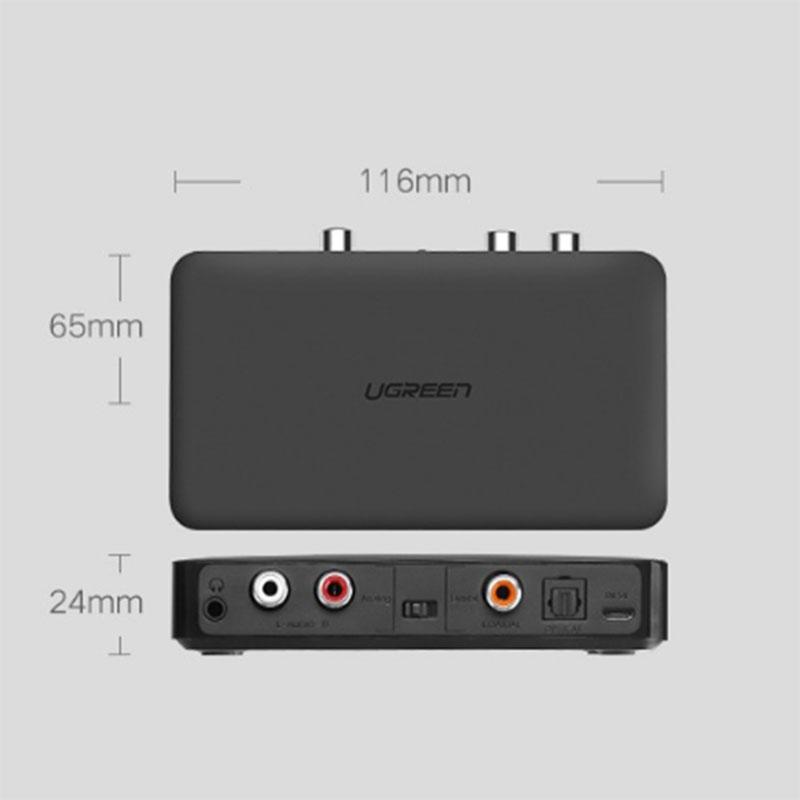 Bộ thu Bluetooth 4.2 cho loa, amly hỗ trợ cổng 3.5mm + RCA + Optical Ugreen 40856