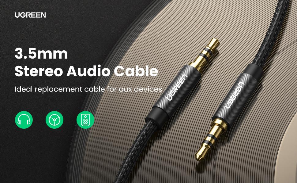 Cáp âm thanh 3.5mm dài 1M Ugreen 50361