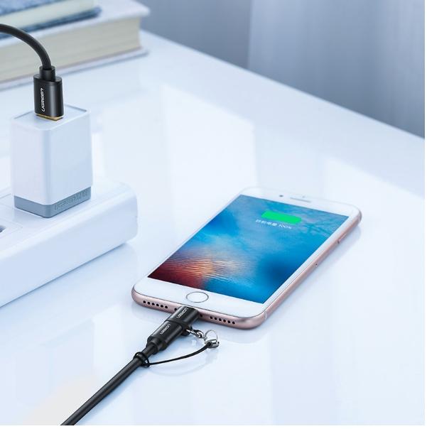 Đầu chuyển Lightning sang Micro USB chuẩn MFi Ugreen 50552