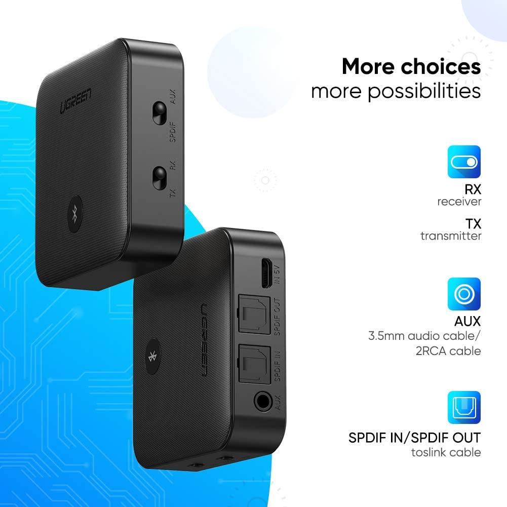 Bộ thu và  phát Bluetooth 5.0 hỗ trợ APTX Ugreen 70158